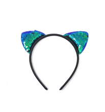 Glitter flip Sequins Cat Ear Girl Hairband Halloween Headdress Gifts