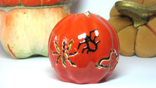 Orange brown black Carved candle Candles pumpkin  gift unique  gift for Halloween spider  on candles