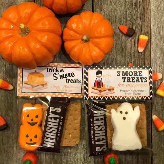 S'mores Halloween Party Bags, Camping Halloween Party Favors, Halloween Party Bags, S'mores Party Favor Bags, S'mores Party Favors, Smores