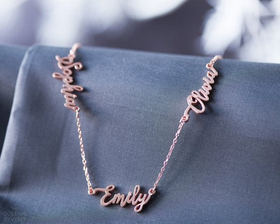 Custom Name Necklace - Family Name Necklace - Family Necklace - Dainty Name Necklac - BFF Necklace - Personalized Gift