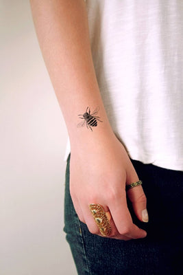 Bumbelbee temporary tattoo / small bumbelbee tattoo