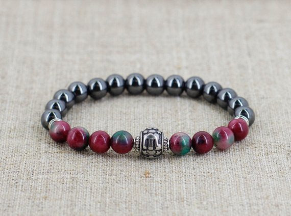 Scorpio zodiac jewelry Tourmaline bracelet Men birthday gift for girlfriend gift for grandpa gift for grandma gift for boyfriend gift friend