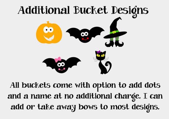 Personalized Small Toddler Halloween Bucket, Personalized Halloween bucket pail, Trick or Treat Bucket