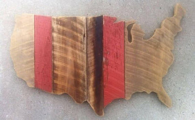 Barnwood United States of America - USA - HOME DECOR - Americana - Patriotic - life - love - wood decor - family - red white & blue