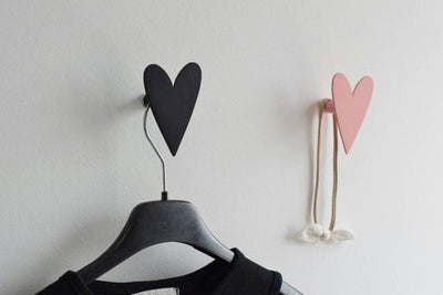 Valentine Gift, Heart Wall Hook, Girls Wall Hooks, Jewelry Holder, Nursery Gifts, Scandinavian design, wall Decor