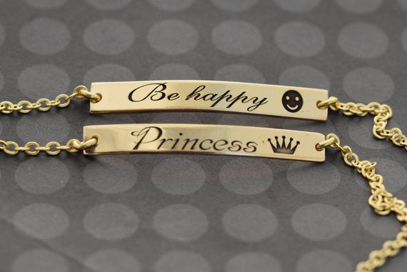 Bar Bracelet, Gold Bar bracelet, Custom Name Bracelet, Personalized Necklace For Women, Name Jewelry, Custom Name Gift, Gift For Friend