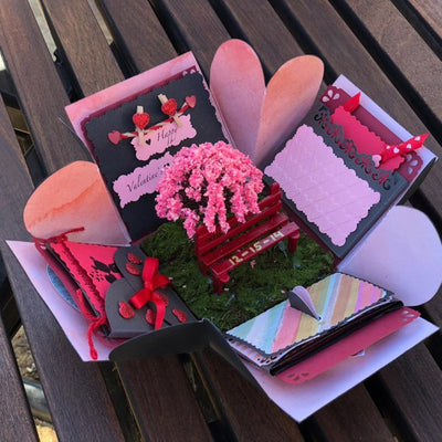 Gift for him, Valentines gift, exploding box valentines, valentines day gift for him, valentines day gift for boyfriend,  gift for her