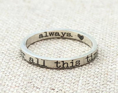 Ring · After all this time Ring · Always Ring · Harry Potter Book Ring · Love Ring · Valentine's  Gift · Book Lover Gift