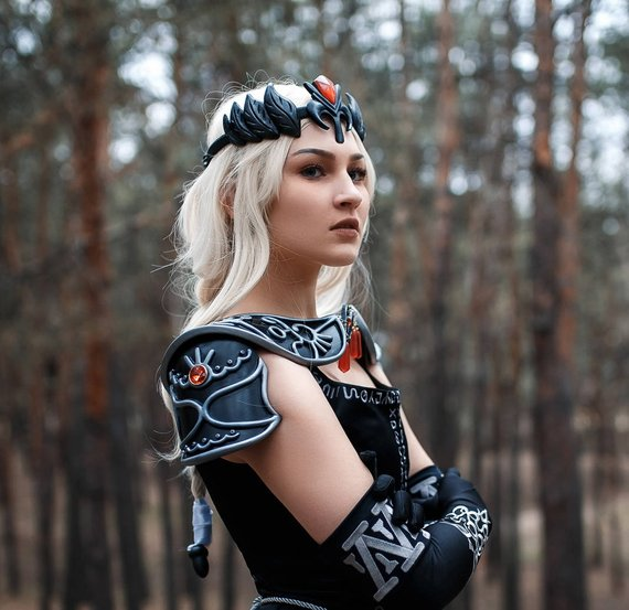 Dark Zelda cosplay costume crown, Dark Zelda princess, legend of zelda costume, replica prop, Princess of Hyrule, Tiara, universe loz,