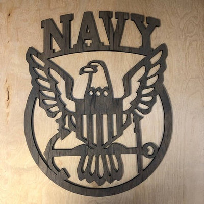 Navy - wood hanging wall art