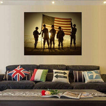 The Brave American Flag Canvas Set, Canvas Wall Art, American Flag Wall Art, Patriotic Gifts, Military Gift, Home Wall Decor, US Flag Canvas