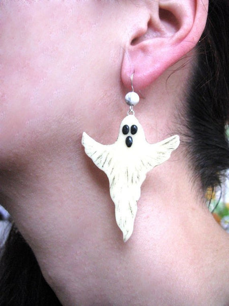 Ghost Halloween jewelry, Gothic jewelry, Glow in the dark, Halloween earrings, Ghost earrings, Jewelry for women, Simple jewelry gift