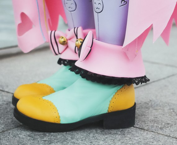 Kawaii Reaper highly detailed cosplay shoes, Nevermore kawaii skin from Overwatch Video game