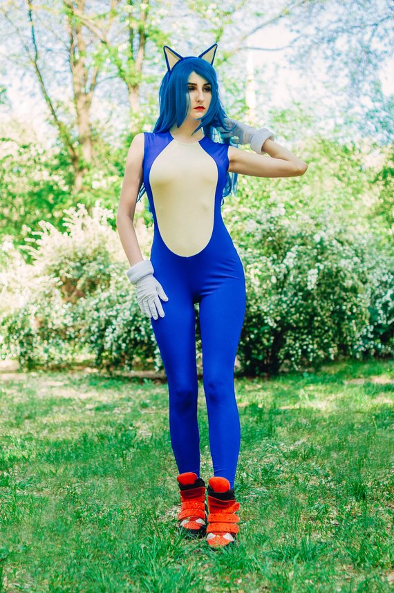 Sonic The Hedgehog Cosplay Costume From Sonic The Hedgehog Video Game Onlineamericanstore