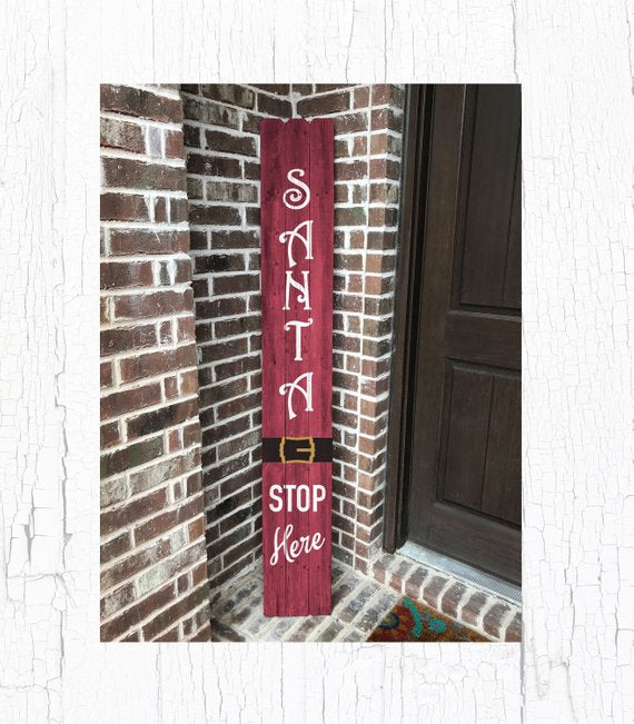 Christmas Wood Decor, Christmas Wood Sign, Christmas Home Decor, Santa Wood Decor, Santa Decor, Santa Sign, Christmas Decoration, Porch Sign