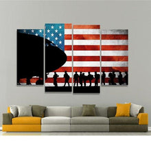 US Flag Wall Art, US Flag Canvas, USA Poster, American Flag Print, America Wall Decor, American Flag Canvas Premium Quality, 5 Panel Canvas