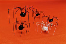 Faux Black Widow Spider Variety Pack, Extra Large Black Widow, 3 Regular Black Widows, Albino Black Widow, Halloween Spider Decoration Pack