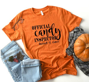 Official Candy Inspector Shirt - Halloween Shirt - Funny Halloween Shirt - Halloween Shirts for her - Mom Halloween Shirt - Candy Shirt her
