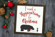 A Hippopotamus for Christmas Decor Farmhouse Christmas Sign Vinyl Decal for Wood Sign or Wall Decal Christmas Decal DIY Christmas Decoration