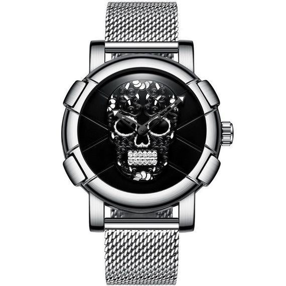 Sugar Skull Men's Wristwatch - Day Of The Dead Watch, Men's gift watch, Day OF The Dead Gift Watch, Men's Skull Wristwatch, Free Shipping