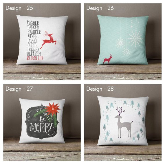 Christmas Pillow Cover Collection Decorative Pillow Cases Gifts Christmas Decorations Cover Sets Christmas Gifts