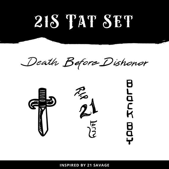 21 Savage Temporary Tattoo Set