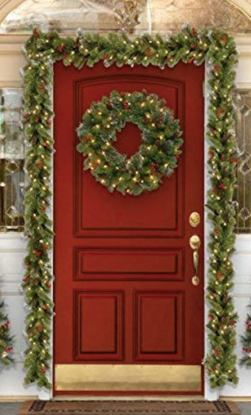 Indoor Christmas Decorations.Outdoor Christmas Decorations Mantle Garland Indoor Christmas Garland 9ft Christmas Garland Spruce Garland Porch Decorations Christmas
