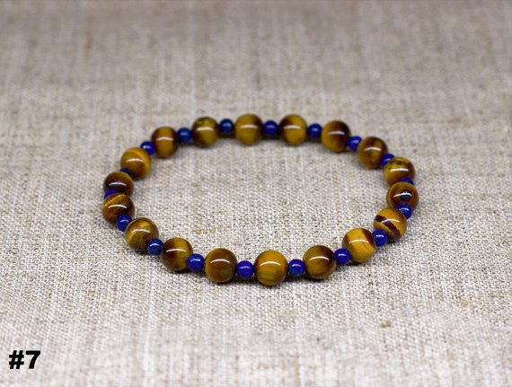 Tiger eye bracelet Men bracelet Halloween jewelry Anniversary gift for men gift for dad gift for boyfriend gift for husband gift for him bff