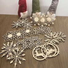 Wooden Christmas ornaments 24 set, Eco Friendly Christmas tree decorations, Snowflake ornaments, personalized Christmas gift