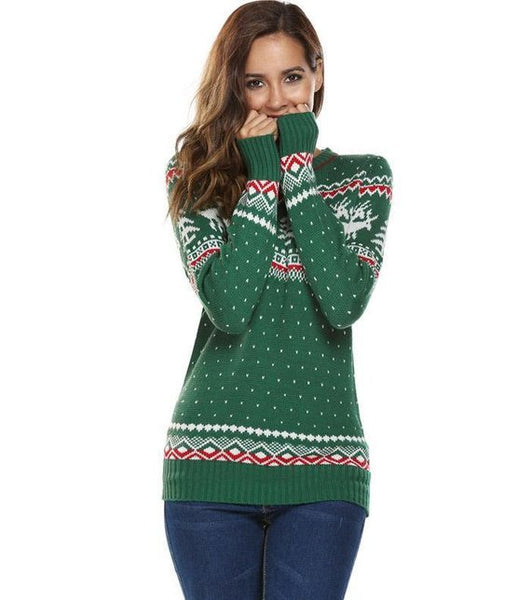 Ugly Christmas Sweater for Women • Funny Christmas Jumper,  Sweaters Casual Long Sleeve, O Neck, Deer, Toddler Youth Adult, Winter Tops,gift