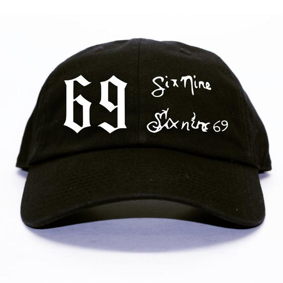 6ix 9ine Head Tattoo Unstructured Black Dad Hat