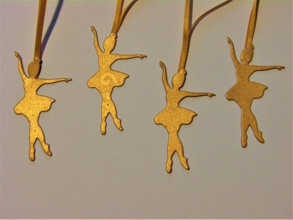 Christmas Tree Decorations, Rose gold,  Environmentally friendly, pack of 5, Custom colours