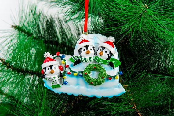 Christmas Ornaments Family of 5 Penguin Family  Delicate Cute Funny Christmas Gift Personalize Christmas Ornament Five Christmas Ornament