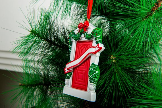 Personalized New Home Family Christmas Ornament for Tree 2018 Door Family of 5 Personalized Christmas Ornament New Home Family of Five