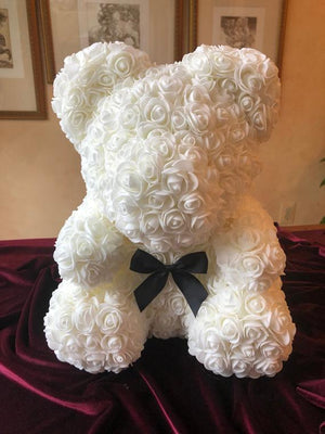 Forever Rose Teddy bear/ Gift for all occasion/Handmade teddy bear
