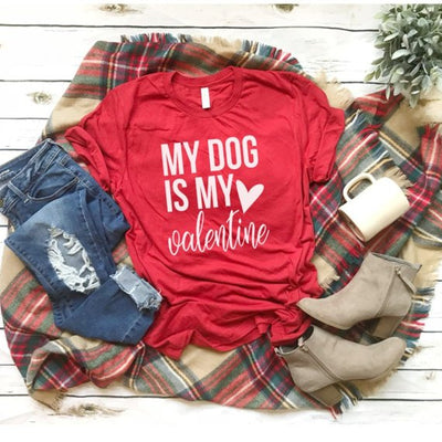 My Dog Is My Valentine, Dog Mom Valentine Shirt, Valentines Shirt, Valentines Day Shirt, Fur Mama Valentine Shirt, Valentines Gift