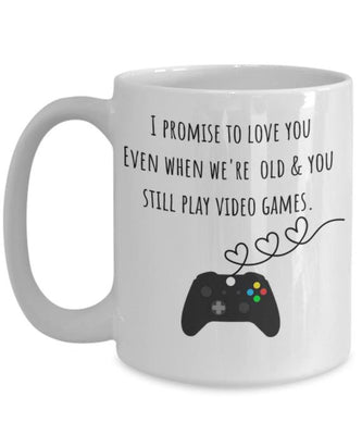 Funny Gamer Mug- Boyfriend Husband Gamer Gift- Gamer Valentine Gift- Anniversary Gift for Him- Video Game Coffee Mug