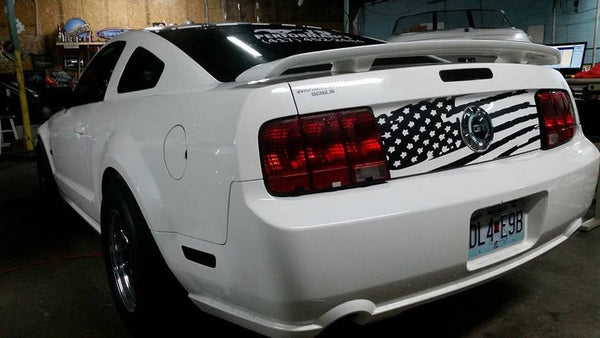 American Flag Distressed Decal Trunk Mustang Merica 2005-2009