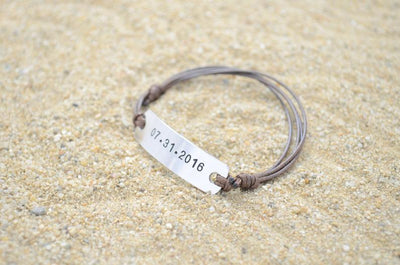 Personalized Band Bracelet | Anniversary Gifts For Boyfriend | Gift For Men | Couples Jewelery | Gift for Boyfriend | Promise Bracelet