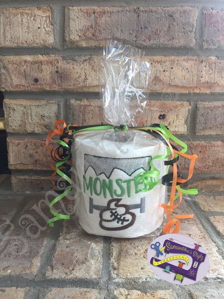 Halloween Decoration, Embroidered Halloween Toilet Paper, Halloween Party gag Gift, Halloween birthday gift, Potty Humor, Funny Gift