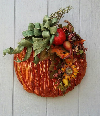 Fall/ Halloween pumpkin wreath
