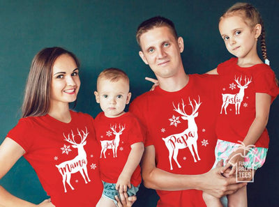 Family Matching Outfits Christmas Winter Sweater Cute Deer Children Clothing Kid Family Clothe YL13
