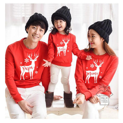 2018 Brand Family Matching Outfits Christmas Family Matching Women Men Kids Sweatshirt Hoodies Sweater T-shirt