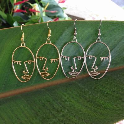 Face Earrings Picasso Face Earrings Statement Earrings Best Selling Item with FREE GIFT BOX        Update your settings