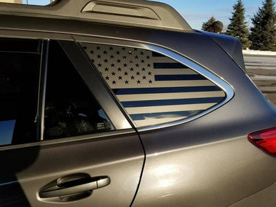 Subaru OutBack American Flag Decals - 09 - Present - Stickers Vinyl Usa Us Side Windows Custom Accessories Off Roading Parts Subie Forester