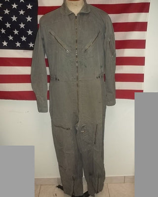Vietnam era flying coveralls US military K2B suit lightweight summer boyfriend medium long size  collectible nice field theatre worn rugged