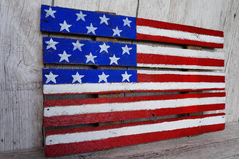 Wooden Usa Flag Rustic American Flag American Home Decor Independence Day Gift Outdoor Indoor Sign Old American Flag Patriot American