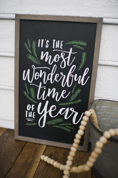 Christmas Decoration Farmhouse Christmas Sign Vinyl Decal or Wood Sign Christmas Stencil Its the most Wonderful Time of the Year