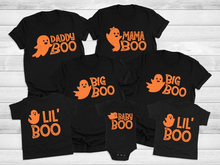 Halloween Funny T-Shirts For Family -  Daddy Boo, Mommy Boo, Baby Boo, Big Boo, Lil Boo, Halloween Shirts,