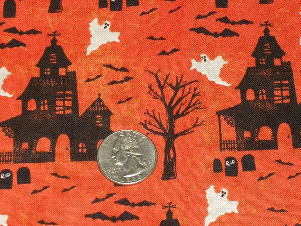 Hounted Ghost House Fabric